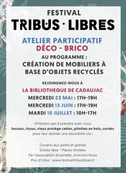 Festival Tribus Libres 2018 - atelier participatif mai juin juillet
