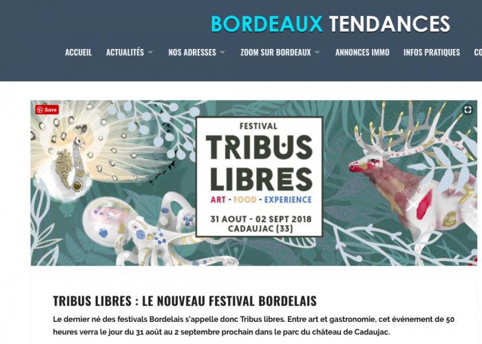 bordeaux tendances - articles - festival tribus libres 2018